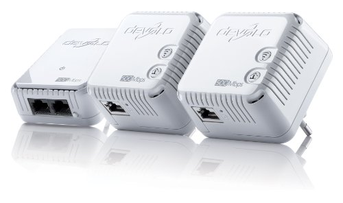 devolo dLAN 500 WiFi Network Kit Powerline (Internet über die Steckdose, WLAN,...