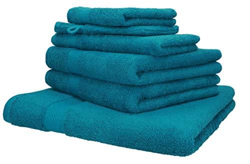 Betz 6-TLG. Handtuch-Set Palermo 100% Baumwolle 1 Liegetuch 2 Handtücher 1...