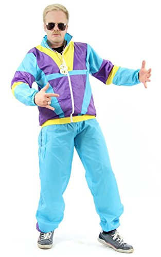Foxxeo 40078-XL | 80er Jahre Kostüm Trainingsanzug Assianzug