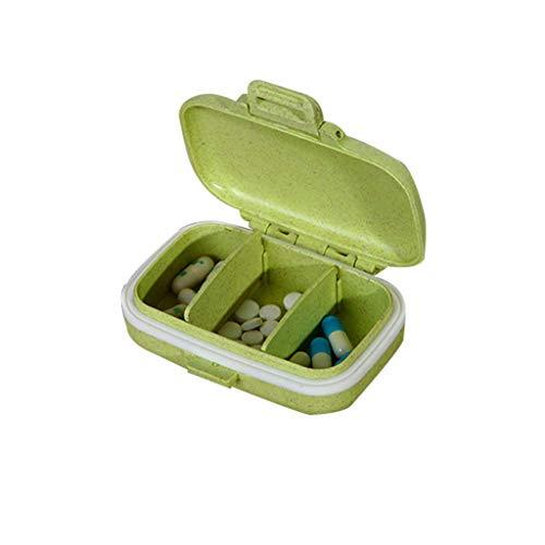 Cutebility Medizinbox Weizenstrohhalm Medizinbox tragbare Medizinbox tragbare...