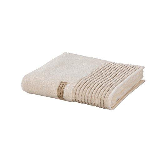 möve Wellness Saunatuch Uni mit Chenillebiesen 80 x 200 cm aus 100 % Baumwolle...