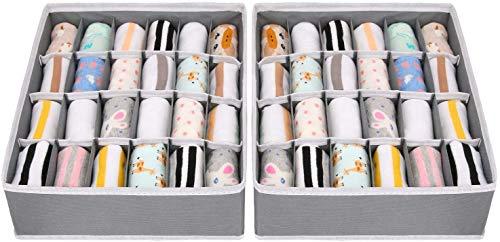 joyoldelf Aufbewahrungsbox für Schublade, faltbar, Vlies, für Unterwäsche,...
