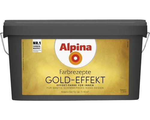 Alpina Farben Farbrezepte Kreativfarbe GOLD
