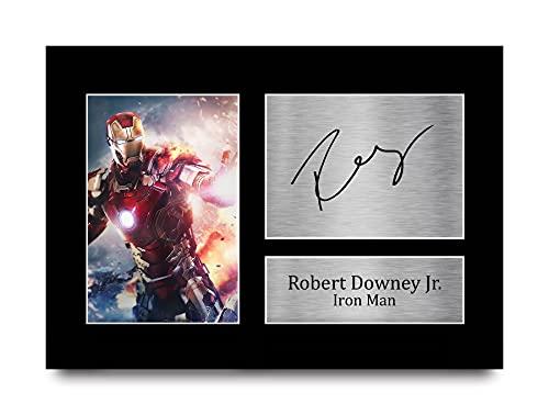 HWC Trading Robert Downey Jr A4 Ungerahmt Signiert Gedruckt Autogramme Bild...