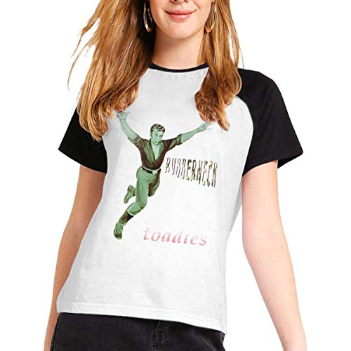 Toadies Woman's Short Sleeve Raglan Baseball T-Shirts Cotton Casual Print...