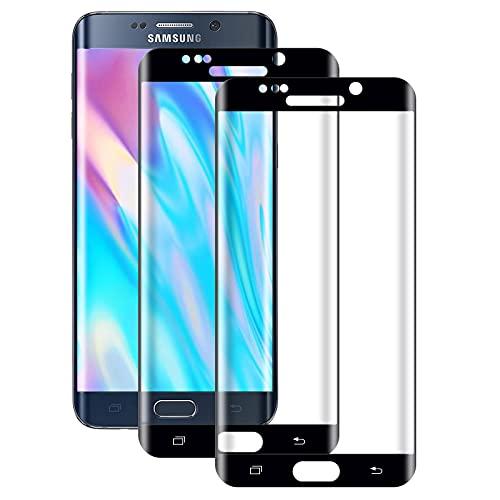 WISMURHI[2 Stück] Schutzfolie für Galaxy S6 Edge Panzerglas, Anti-Bläschen,...