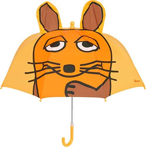 Playshoes DIE MAUS Mädchen Kinder Maus Regenschirm, Gelb (Gelb 12), One Size