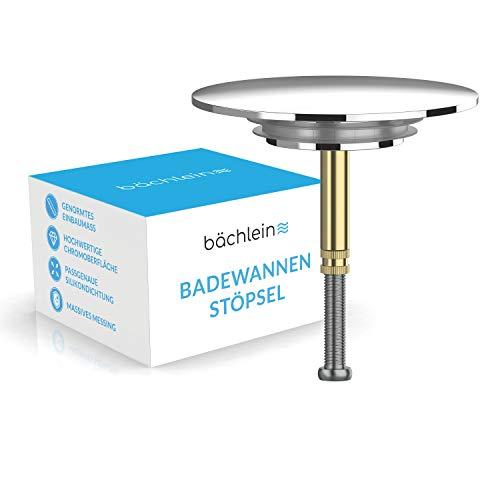 Bächlein Universal Badewannenstöpsel - Abfluss-Stopfen Chrom aus massivem...