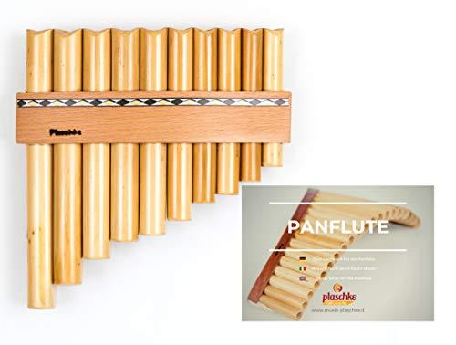 Panflöte aus Bambus, Indianische Flöte, rumänische Bauart mit 10...