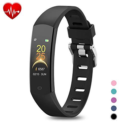 BingoFit Fitness Armband Kinder Uhr mit Pulsmesser, Wasserdicht GPS Fitness...