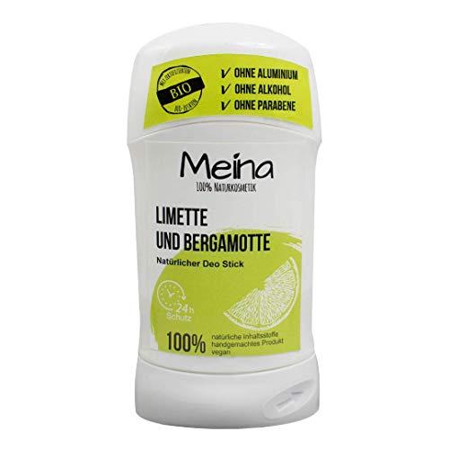 Meina Naturkosmetik - Deo Stick ohne Aluminium mit Limette und Bergamotte (1 x...
