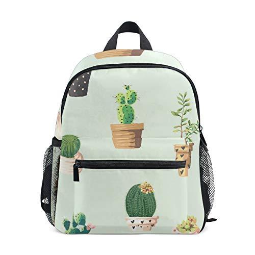 Kleine Schultasche mit süßem Kaktus-Muster, Rucksack für Mädchen, Jungen,...