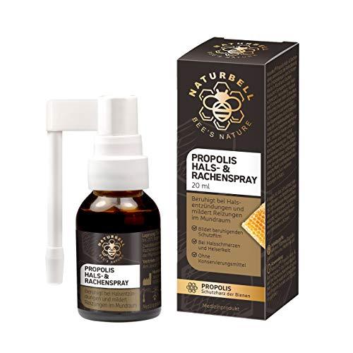 Naturbell Propolis Hals- & Rachenspray, beruhigendes Spray mit Propolis bei...