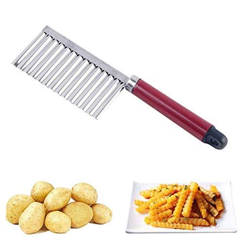 1 x Kartoffelfaltenschneider für Gemüse, Falten aus Edelstahl