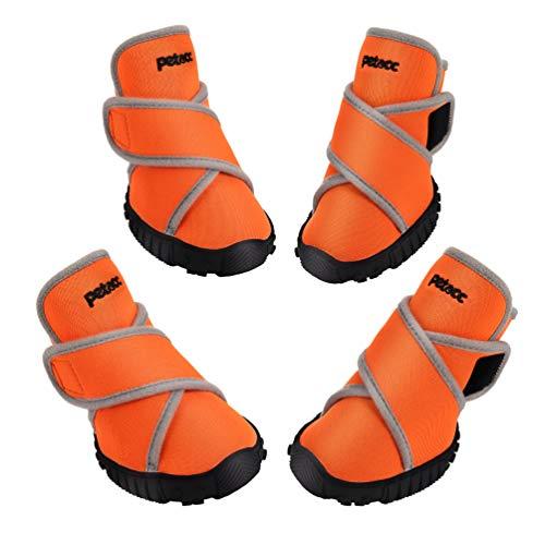 Petacc Hundeschuhe, Pfotenschutz Schuhe mit Rutschfeste Sohle und Wasserdichter...