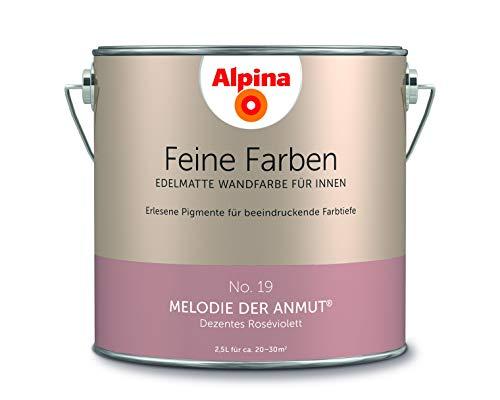 Alpina 2,5 L. Feine Farben, Farbwahl, Edelmatte Wandfarbe für Innen (No.19...