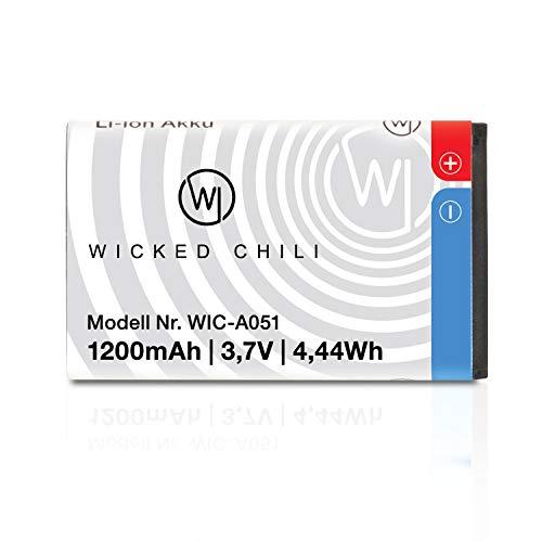 Wicked Chili Akku kompatibel mit AMV Fritz!Fon C6-1200mAh bis 19 Stunden...
