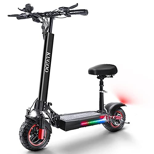 HUABANCHE Elektroroller Erwachsene E Scooter mit Sitz 55 km Lange Reichweite E...
