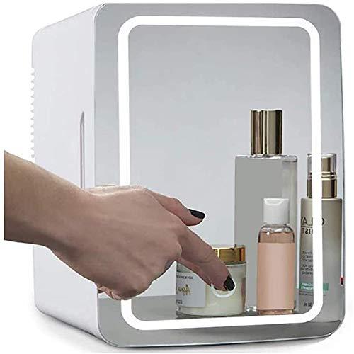 Hzlsy 2-in-1 Mini Make-up Kühlschrank 8 Liter mit Schminkspiegel LED-Licht...