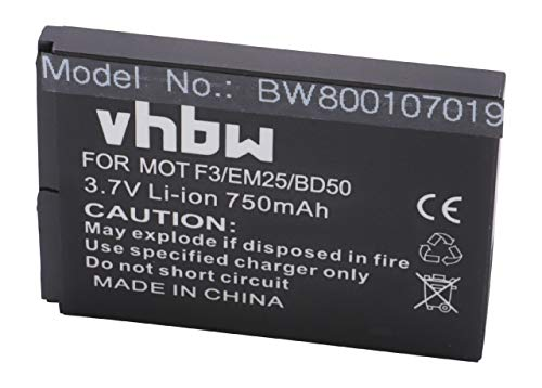 vhbw Li-Ion Akku 750mAh (3.7V) für Smartphone, Telefon, Handy AVM Fritz! Fon C5...