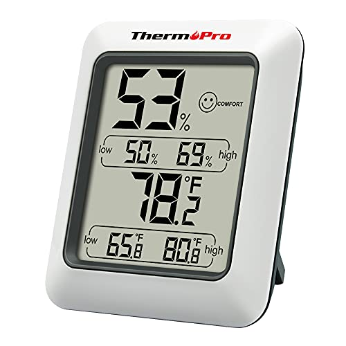 ThermoPro TP50 digitales Thermo-Hygrometer Hygrometer Innen Thermometer...