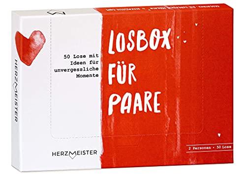 Losbox für Paare I Das Paar-Geschenk für 50 unvergessliche Momente I 50 Lose...