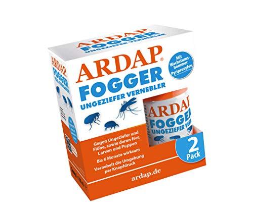 ARDAP Fogger 2 x 100ml - Effektiver Vernebler zur Ungeziefer- & Flohbekämpfung...