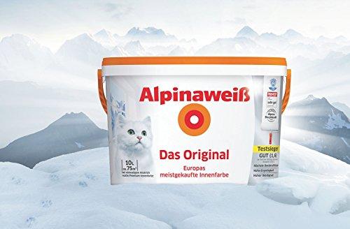 Alpinaweiß - Das Original, 10 Liter, weiße Wandfarbe, höchste Deckkraft,...