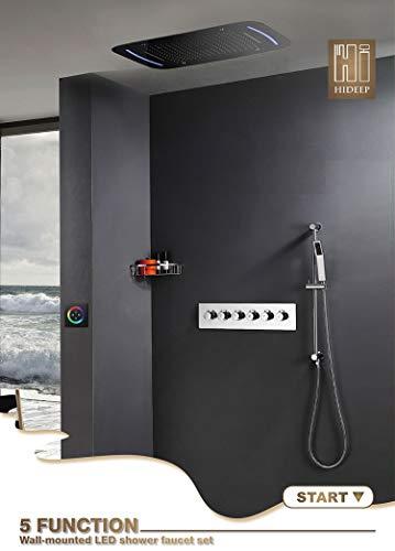 LED-Regendusche-System-Deckenmontage-Multifunktions-Wasserfall-Spa-Massage mit...
