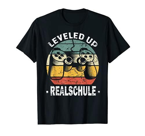 Grundschule Abschluss Leveled Up Realschule 2021 5te Klasse T-Shirt