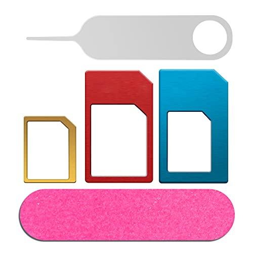 SIM Karten Adapter 5 in 1 Nano Micro Standard SIM Karten Adapter Kit Konverter...