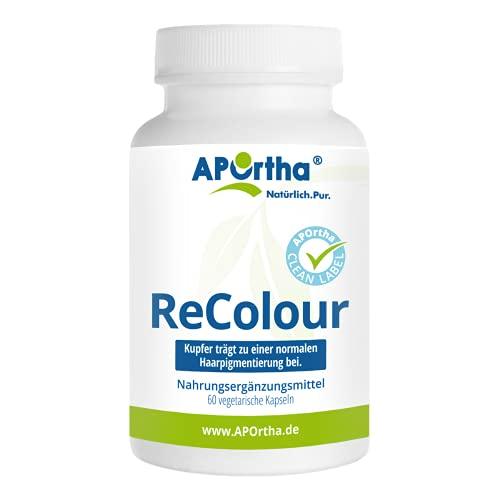 APOrtha Anti Grau mit hochwertigem Melatine I 60 vegetarische Kapseln mit...