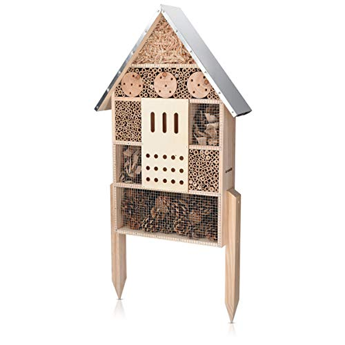 Navaris Insektenhotel aus Holz - Naturbelassenes Insekten Hotel für...