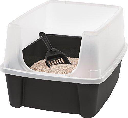 Iris Katzentoilette mit Rand und Schaufel 'Cat Litter Box', Plastik, 48,5 x 38 x...