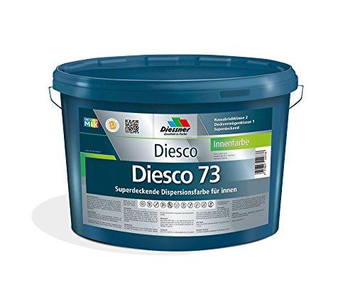 Diesco 73 Premium Innenfarbe Weiß sehr gut Deckend Wandfarbe Dispersionsfarbe...