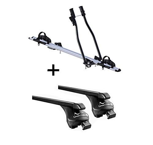 VDP Fahrradträger SAGITTAR + Relingträger Quick Stahl L kompatibel mit Peugeot...