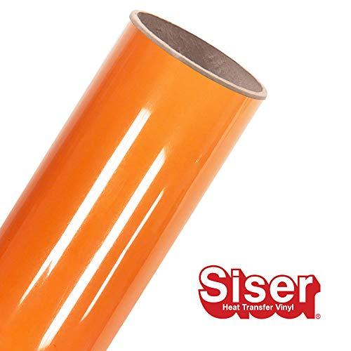 Siser EasyWeed HTV-Rolle, 30 x 4,5 m, zum Aufbügeln, Vinyl Orange Soda