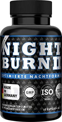 NIGHT BURN 2 Kapseln für die Nacht, die Erfolgs-Rezeptur aus den USA, Made in...