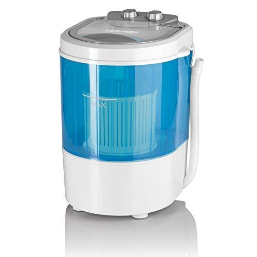 CLEANmaxx 07475 Mini-Waschmaschine, Toplader mit Schleuder Campingwaschmaschine...