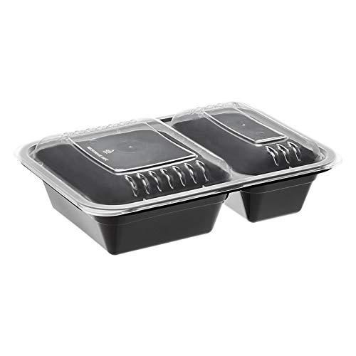 AmazonBasics – Frischhaltedosen mit 2 Fächern, BPA-frei, geeignet für...