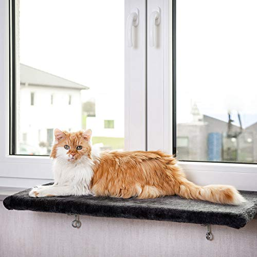CanadianCat Company  | Snuggly Place | Large | Anthrazit | gepolsterte Liege-...