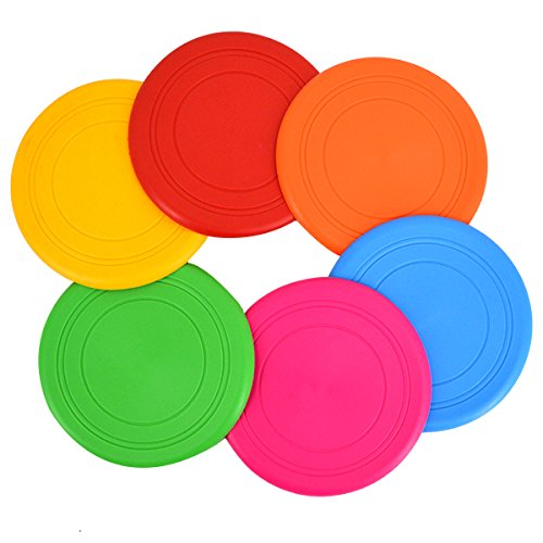 Milya 6PCS Frisbee Scheibe für Hunde, Hundespielzeug Silikon Bissfest Frisbee,...