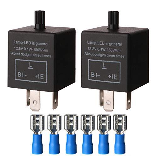 Gebildet 2 Stücke 3 Polig Blinkrelais CF-14KT, Blinker Relais für LED Blinker...
