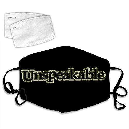 7988 U-n-Speakable Wiederverwendbare Mundbedeckung gegen Staub, Verschmutzung,...