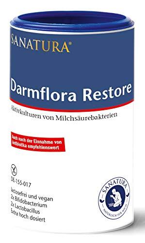 Sanatura Darmflora Restore – 200 g – hochdosierte Milchsäurebakterien –...