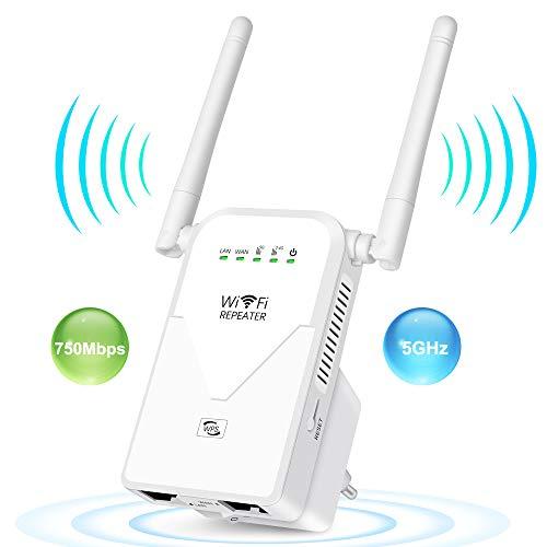 AC750 WLAN Repeater Dualband Signalverstärke Booster Wlan Router (433 Mbit/s,...