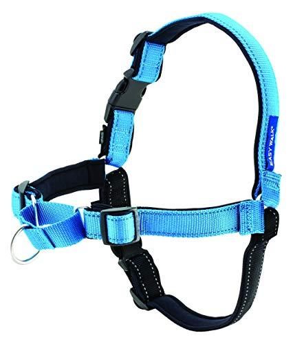 PetSafe Easy Walk Deluxe Hundegeschirr M blau, 1,8 m Leine, kein Ziehen,...