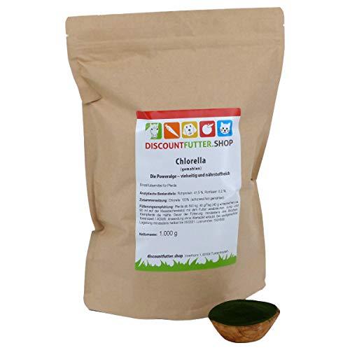 discountfutter.shop Chlorella (gemahlen - 1 kg) die Poweralge für Pferde
