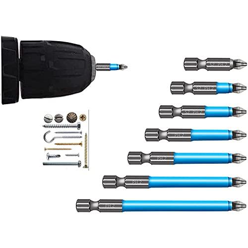 YIKUN 7 Stück Magnetischer Anti-Rutsch Bohrer Und Doppelkopf Ph2 Sechskant...