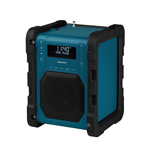 MEDION P66098 DAB+ Baustellenradio mit Bluetooth Funktion, USB, AUX,...